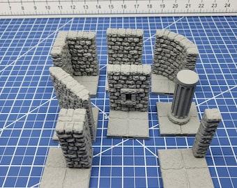"Keep Style - 3"" Wall Tiles- DragonLock - DND - Pathfinder - RPG - Dungeon & Dragons - 28 mm / 1"" - Terrain - Fat Dragon Games"