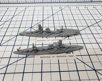 Battleship - IJN Ise - Wargaming - Axis and Allies - Naval Miniature - Victory at Sea - Tabletop Games - Warships