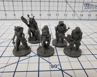 The Wilds of Wintertide - Ice Tribe Minis - Hero's Hoard - DND - Pathfinder - Dungeons & Dragons - RPG - Tabletop - EC3D - Miniature - Mini