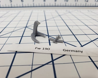 Aircraft - FW 190 - German Navy - 1:900 - Wargaming - Axis and Allies - Naval Miniature - Victory at Sea - Tabletop Games - Warships