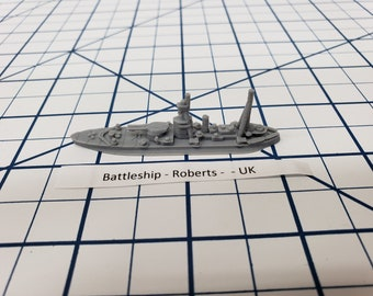 Battleship - HMS Roberts - Royal Navy - Wargaming - Axis and Allies - Naval Miniature - Victory at Sea - Tabletop Games - Warships