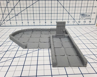 "True Tiles - Dungeon Stone Premium Set 125 Tiles! - OpenLock - DND - Pathfinder - Dungeons & Dragons - Terrain - RPG - Tabletop - 28 mm / 1"""