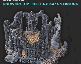 The Wilds of Wintertide Ruins - Altar - Hero's Hoard - DND - Pathfinder - Dungeons & Dragons - RPG - Tabletop - EC3D - Terrain