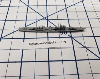 Destroyer - Akizuki Class - IJN - Wargaming - Axis and Allies - Naval Miniature - Victory at Sea - Tabletop Games - Warships