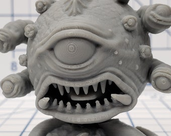"Angry Ball of Eyes - Beholder - DND - Pathfinder - RPG - Dungeon & Dragons - Miniature - Mini - 28 mm / 1"" - Fat Dragon Games"
