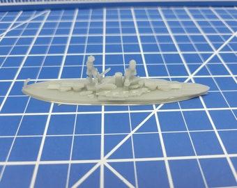 Battleship - Nevada - 1939 Variant - US Navy - Wargaming - Axis and Allies - Naval Miniature - Victory at Sea - Tabletop Games - Warships