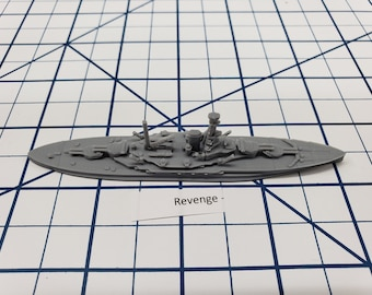 Battleship - HMS Revenge - Royal Navy - Wargaming - Axis and Allies - Naval Miniature - Victory at Sea - Tabletop Games - Warships