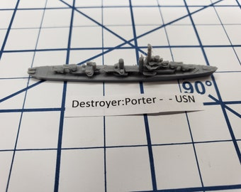 Destroyer - Porter Class - USN - Wargaming - Axis and Allies - Naval Miniature - Victory at Sea - Tabletop Games - Warships