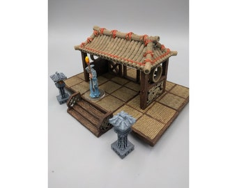 "OpenForge Oriental Pagoda - Tabletop - DND - Pathfinder - RPG - 28 mm / 1"" - Terrain - Dungeons & Dragons - Warhammer"