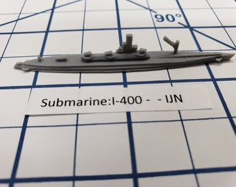 Submarine - I-400 - IJN - Wargaming - Axis and Allies - Naval Miniature - Victory at Sea - Tabletop Games - Warships