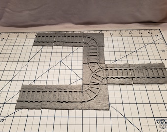 Mine Cart Floor Tiles - OpenLock or DragonLock - Openforge - DND - Pathfinder - Dungeons & Dragons - RPG - Tabletop - 28 mm / 1""