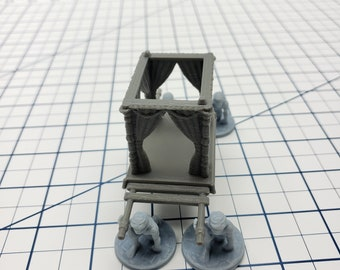 Empire of Scorching Sands - Palanquin - DND - Dungeons & Dragons - RPG - Tabletop - EC3D - Miniature - 28 mm