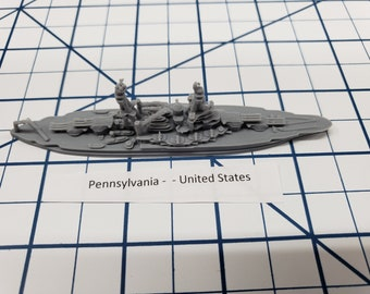 Battleship - Pennsylvania - US Navy - Wargaming - Axis and Allies - Naval Miniature - Victory at Sea - Tabletop Games - Warships