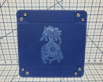Dungeons and Dragons Themed Dice Tray - Multiple Designs - Leatherette Snap Up Tray - D&D - Dungeons and Dragons - Fantasy - RPG
