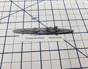 Cruiser - De Ruyter - Netherlands - Wargaming - Axis and Allies - Naval Miniature - Victory at Sea - Tabletop Games - Warships