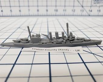 Cruiser - County - Royal Navy - Wargaming - Axis and Allies - Naval Miniature - Victory at Sea - Tabletop Games - Warships