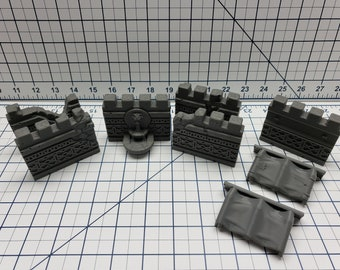 Empire of Scorching Sands - City Walls - DND - Dungeons & Dragons - RPG - Tabletop - EC3D - Miniature - 28 mm