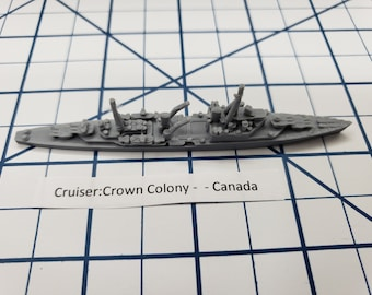 Cruiser - Crown Colony - Royal Canadian Navy - Wargaming - Axis and Allies - Naval Miniature - Victory at Sea - Tabletop Games - Warships