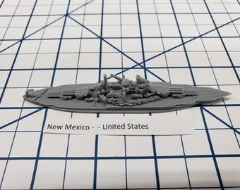 Battleship - New Mexico - US Navy - Wargaming - Axis and Allies - Naval Miniature - Victory at Sea - Tabletop Games - Warships
