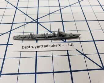 Destroyer - Hatsuharu Class - IJN - Wargaming - Axis and Allies - Naval Miniature - Victory at Sea - Tabletop Games - Warships