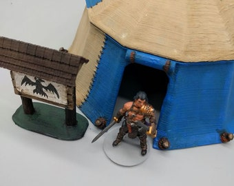 """Pavilion Tent - OpenForge - DND - Pathfinder - RPG - Dungeon & Dragons - 28 mm / 1"""" Scale - Dungeon and Map Accessories"""