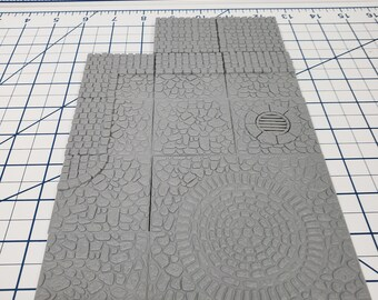 "Village Street Tiles - DragonLock - DND - Pathfinder - RPG - Dungeon & Dragons - 28 mm / 1"" - Fat Dragon Games"