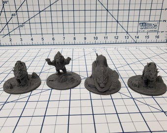 """Wilds of Wintertide - Big Cats Minis - DND - Pathfinder - Dungeons & Dragons - RPG - Tabletop - EC3D - 28 mm - 1"""""""