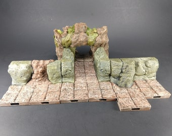 Dry Cave Wall Tiles - OpenLock or DragonLock - Openforge - DND - Pathfinder - Dungeons & Dragons - RPG - Tabletop - 28 mm / 1""