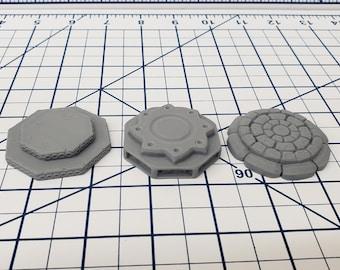 "Set of 3 Dais - DND - Pathfinder - RPG - Dungeon & Dragons - Terrain - Map Accessories - Tabletop - 28 mm / 1"" - Terrain - Fat Dragon Games"