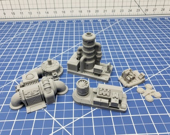 Engine Room Items - Ignis Quadrant - Starfinder - Cyberpunk - Science Fiction - Syfy - RPG - Tabletop - Scatter - Terrain