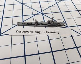Destroyer - Elbing Class - German Navy - Wargaming - Axis and Allies - Naval Miniature - Victory at Sea - Tabletop Games - Warships