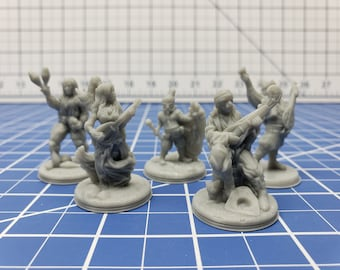 Crimson Troupe Minis - Hero's Hoard - DND - Pathfinder - Dungeons & Dragons - RPG - Tabletop - EC3D - Miniature