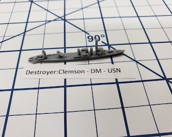 Destroyer - Mine Layer - Clemson Class - USN - Wargaming - Axis and Allies - Naval Miniature - Victory at Sea - Tabletop Games - Warships
