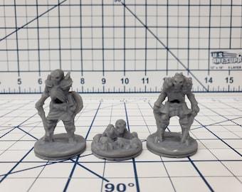 "Wilds of Wintertide - Skeleton Minis - DND - Pathfinder - Dungeons & Dragons - RPG - Tabletop - EC3D - 28 mm - 1"""