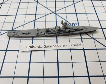 Cruiser - La Galissonniere - French Navy - Wargaming - Axis and Allies - Naval Miniature - Victory at Sea - Tabletop Games - Warships