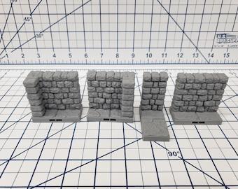 "Dungeon Style - 1X2 Walls - DragonLock - DND - Pathfinder - RPG - Dungeon & Dragons - 28 mm / 1"" - Terrain - Fat Dragon Games"