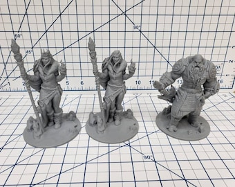 The Wilds of Wintertide - Frost Giants Minis - Hero's Hoard - DND - Pathfinder - Dungeons & Dragons - RPG - Tabletop - EC3D - Miniature