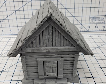 "Small Cottage / House - DND - Pathfinder - Dungeons & Dragons - RPG - Tabletop - Terrain - 28 mm / 1"" - Warhammer - Gamescape3d"