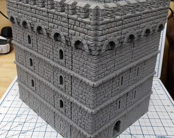 "Castle Keep - DragonLock - DND - Pathfinder - RPG - Dungeon & Dragons - 28 mm / 1"" - Fat Dragon Games"