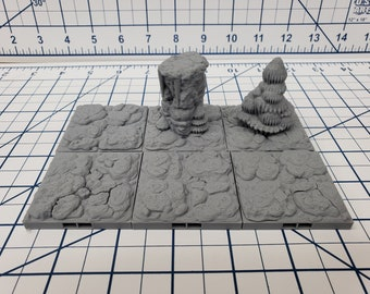 "Caverns - Floor Tiles- DragonLock - DND - Pathfinder - RPG - Dungeon & Dragons - 28 mm / 1"" - Terrain - Fat Dragon Games"