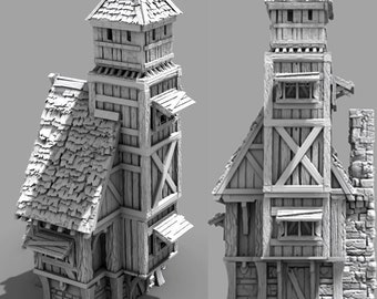 """Town Guard House - DND - Pathfinder - Dungeons & Dragons - Warhammer - RPG - Tabletop - 28 mm / 1"""""""