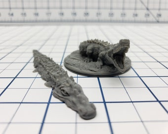 Empire of Scorching Sands - Set of Crocodile Minis - DND - Pathfinder - Dungeons & Dragons - RPG - Tabletop - EC3D - Miniature - 28 mm