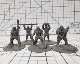 """Ogre Warband - DND - Pathfinder - RPG - Dungeon & Dragons - Miniature - Mini - 28 mm / 1"""" - Fat Dragon Games"""