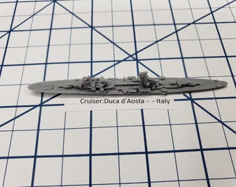 Cruiser - Duca d'Aosta Italian Navy - Wargaming - Axis and Allies - Naval Miniature - Victory at Sea - Tabletop Games - Warships