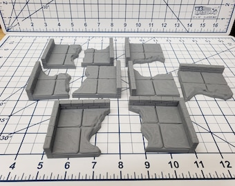 "Chasm Wall Tiles - EC3D - DND - Pathfinder - Dungeons & Dragons - RPG - Tabletop - 28 mm / 1"" - True Tiles"