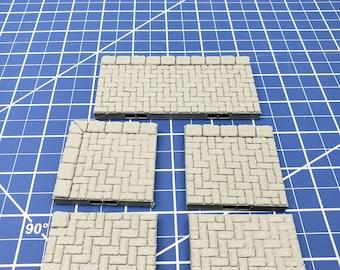 """Sidewalk Tiles - Dragonshire - Fat Dragon Games - DND - Pathfinder - RPG - Terrain - 28 mm / 1"""" - Dungeon & Dragons - Warhammer"""