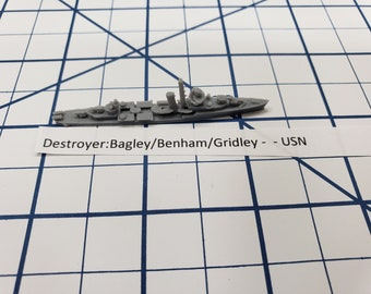 Destroyer - Bagley/ Benham/ Gridley Class - USN - Wargaming - Axis and Allies - Naval Miniature - Victory at Sea - Tabletop Games - Warships