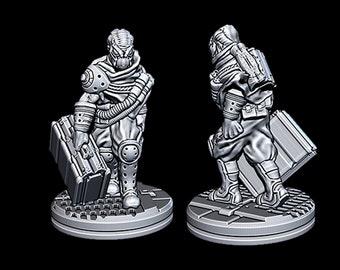 "Alien Courier - Novus Landing - Starfinder - Cyberpunk - Science Fiction - Syfy - RPG - Tabletop - Scatter- Terrain- 28 mm / 1"""