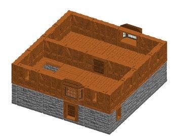 "Large House/Manor Sets - Dragonshire - DragonLock - Fat Dragon Games - DND - Pathfinder - RPG - Terrain - 28 mm / 1"" - Dungeon & Dragons"