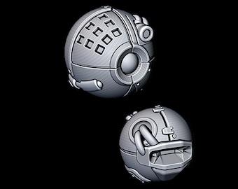 "Sentry Drone - Novus Landing - Starfinder - Cyberpunk - Science Fiction - Syfy - RPG - Tabletop - Scatter- Terrain- 28 mm / 1"""